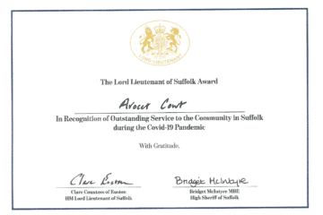 Ruth Garnham's Certificate of Merit